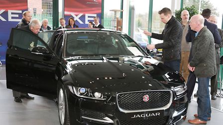 The New Jaguar XE 2ltr R-Sport with some admirers