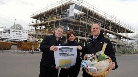 Michael and Nicola Reece (Farmers Fayre) with Colin Hooper (Stoneleigh Park).