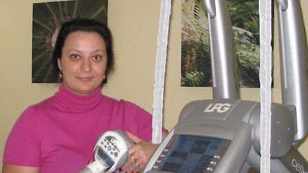 Irina Gorianova, the owner of the Laserina clinic with the Endermologie machine