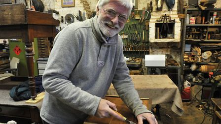 Antique furniture restorer, Graham Williams, who is also the verger at the church