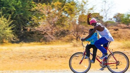 In Zambia, a bike enables a healthcare worker to visit 4 times the number of patients in a day; it h