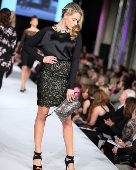Chloe James collection at St Albans Fashion Show