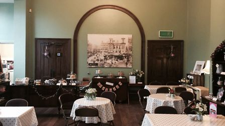 The historic setting provides the perfect setting for this vintage-style tea room