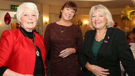 Mayoress of Cheshire East Joan Fitzgerald, Yvonne McKenna (MacMillan Cancer Support) and Bernadette