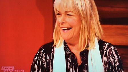 Linda Robson presented Loose Women in a Hispid scarf