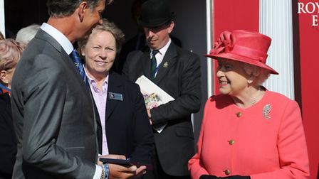 HM The Queen presents the award to Carl Hester