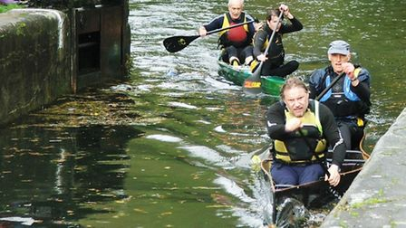 Racing through a lock on the river - they make good obstacles