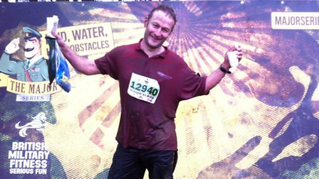 Andy Garland: muddy but victorious