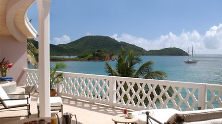 The view from the Grace Bay Suite at Curtain Bluff, Antigua