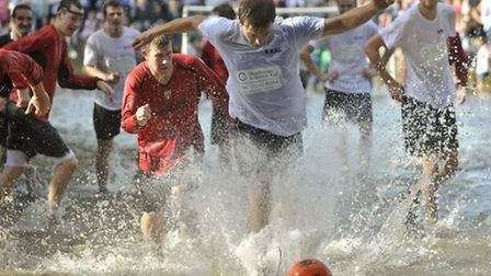 Football in the river / Photo: Ben Birchall [PA]