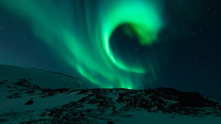 Aurora Borealis as seen in Sweden along the Northern Lights
