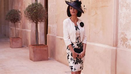 Dress, jacket, hat and bag by Jacques Vert