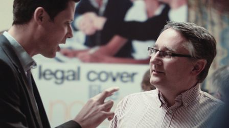 Alex Chalk and Martin Horwood exchange words at the Federation of Small Businesses pre-election deba
