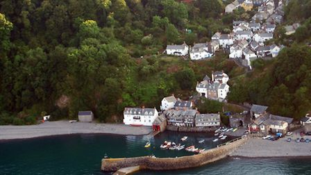 Clovelly from the air