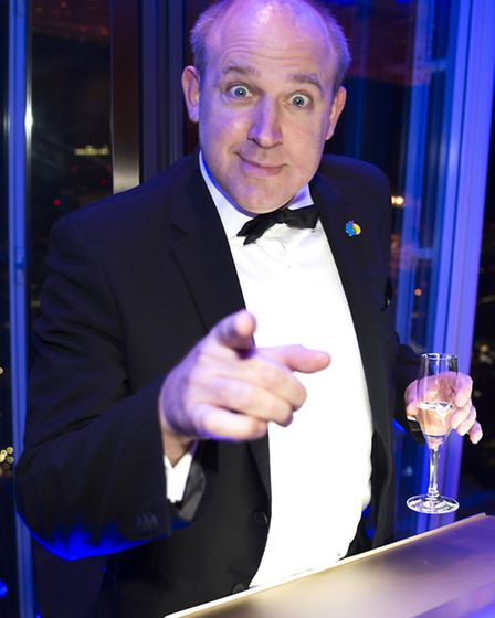 The comedian helping out at a recent event in aid of The Children's Trust at Tadworth (Photo Andy Ne