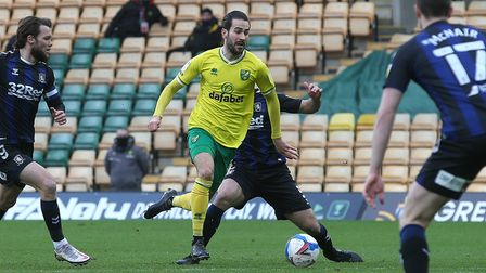 Mario Vrancic of Norwich in action during the Sky Bet Championship match at Carrow Road, Norwich