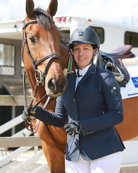 Nina Barbour and her horse 'Calle' at SouthView Equestrian Centre, Wettenhall