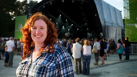 Rachael Miller on duty at Forest Live