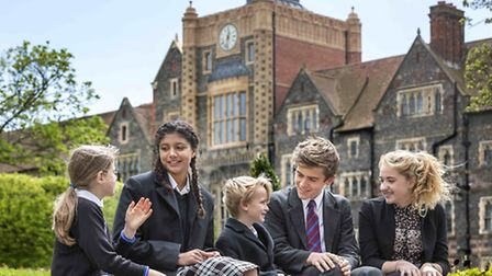 Pupils from Brighton College Pre-Prep celebrate top marks for their school