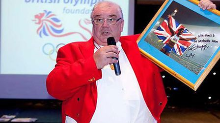 Before the life-changing operation – David Stanley in his toastmaster jacket.