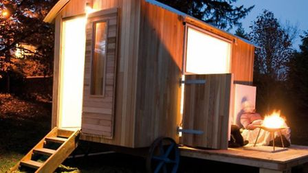 A shepherd's hut can be a cosy space to relax in, day or night | Photo: Cotswolds Shepherds Huts