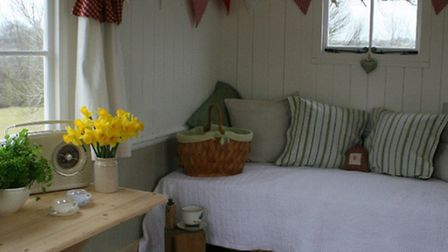 Shepherds huts can be fitted with contemporary interiors | Photo: Cotswolds Shepherds Huts