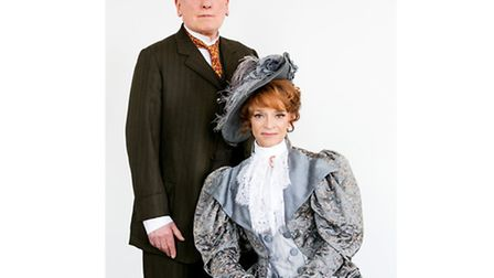 Sue Holderness (Mrs Warren) and Christopher Timothy (Sir George Crofts) in Mrs Warren's Profession /
