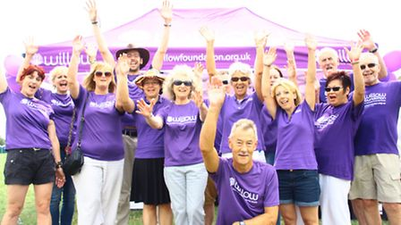 Peter Ibbetson (front centre) with fellow Willow Foundation volunteers