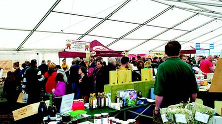 There are nearly 40 food stands in this year's Cotswold Show food hall