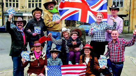 Shopkeepers and organisers launch Stow Cotswold Festival on the 4th of July, at Stow Market Cross