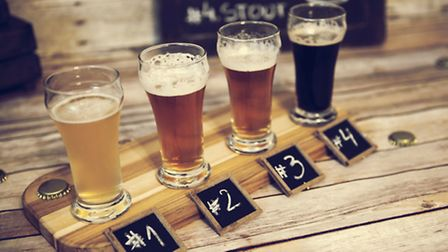 Beer tasting on the Haresfoot Brewery tour