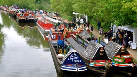 Narrowboats on the Grand Union Canal at Rickmansworth