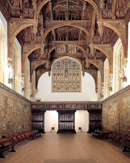 Hampton Court's Great Hall will be the scene of a talk by Alison (Photo Historic Royal Palaces - new