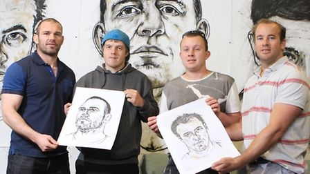 Andy Hazel, National Star College students Bradley Lovell and George Nicol and James Simpson Daniel,