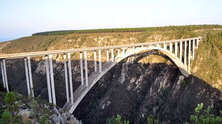The Bloukrans Bridge, standing 709ft above Bloukrans River | Photo courtesy of Face Adrenalin