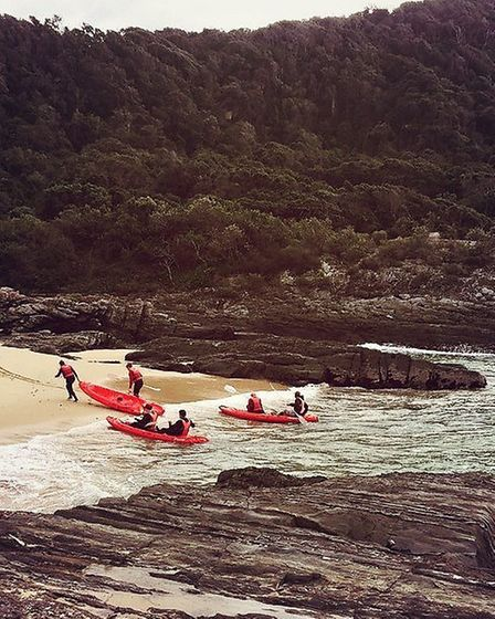Kayaking at Storms River | Photo courtesy of Natasha Bird