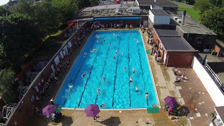 Aerial image of the pool at Nantwich Photo credit UKTriathlon.co.uk