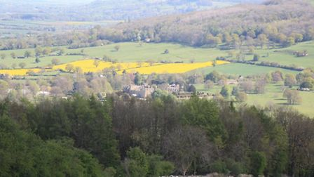 Sudeley Castle in the distance