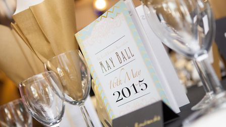 Tables at the The Croft Preparatory School May Ball