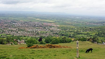 Looking out over Cheltenham and beyond