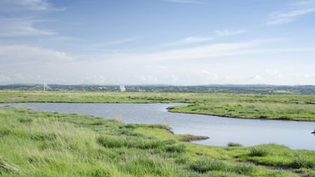 View Across Dee Estuary from Wirral Way in Neston