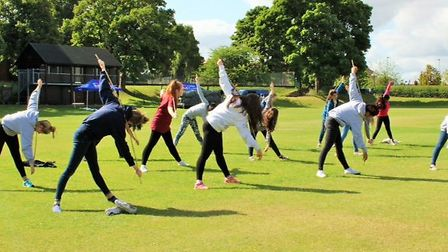 Students taking part in the annual wellbeing festival