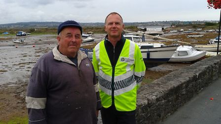 Martin Davies on the RH side, Flood Risk Advisor at the Environment Agency and John Newbery on the L