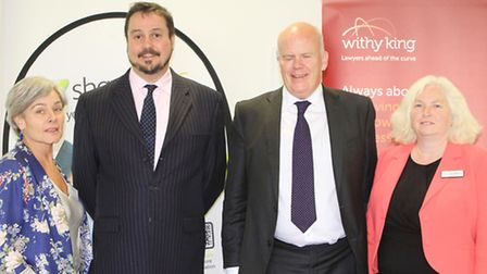 Speakers Nicky Godding from Cotswold Life, Richard Baxter from Withy King, Mark Berrisford-Smith fro