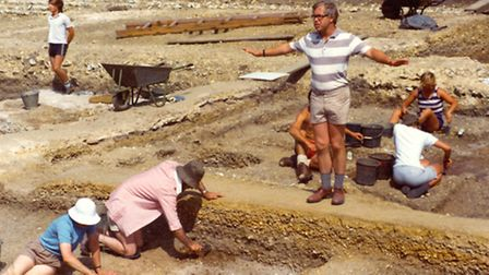 The team on site in the 1970s