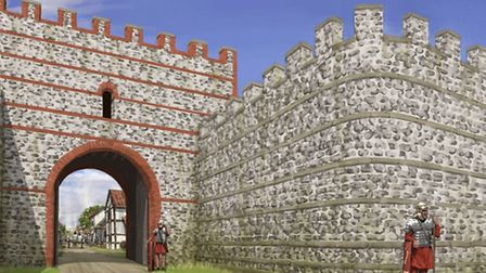 How Silchester may have looked. Photo: English Heritage