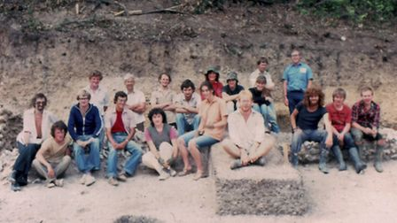 The team in the amphitheatre in 1992