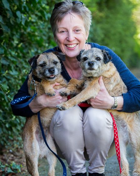Author Julie Summers with two of her favourite friends