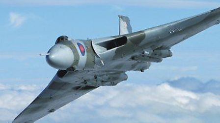 A fly-over of the Avro Vulcan XH588