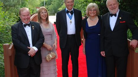 The Vice-Chancellor of the University of Chester, Professor Tim Wheeler, with Marilyn Wheeler, the H